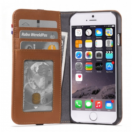 Decoded Leather Wallet Case iPhone 7 Brown