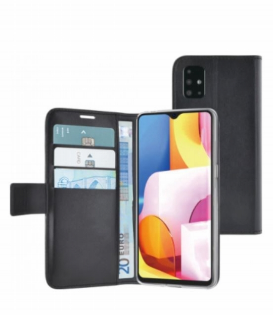 Azuri walletcase magnetic closure & cardslots - zwart - Samsung A71