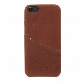 Decoded Leather Back Cover - bruin - voor Apple iPhone 6/6S/7