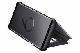 Samsung S9 Clear View Standing Cover - Black