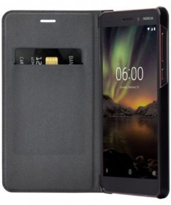 Nokia Slim Flip Case - black - for Nokia 6.1