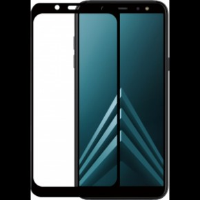 Azuri Tempered Glass flat RINOX ARMOR  - black frame - Samsung A6 (2018)