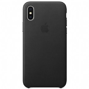 Apple iPhone Xs Max Leather Case – Black