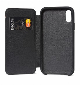 Decoded Leather Slim Wallet - black - for iPhone Xs Max