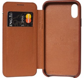 Decoded Leather Slim Wallet - brown - for iPhone Xr