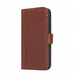 Leather Impact Protection Wallet  - brown - for Apple iPhone X(s)