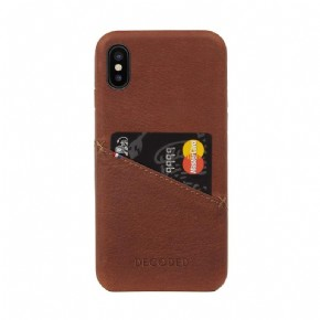 Leather Detachable Wallet with Back Cover - brown - for iPhone XR