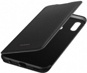 Huawei P smart 2019 flip cover Zwart