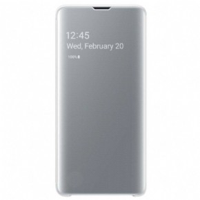 Samsung clear view cover - white - for Samsung Galaxy S10