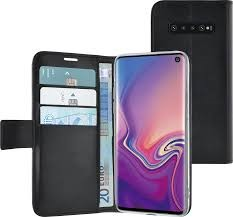 Azuri walletcase - magnetic closure & 3 cardslots - black - Samsung Galaxy S10