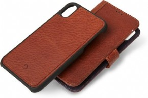 Leather Detachable Wallet with Back Cover - for iPhone Xs Max (6.5 inch) - bruin