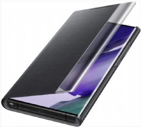 Samsung clear view cover, Zwart voor Samsung Galaxy Note20 Ultra