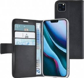 Azuri walletcase - magnetic closure & cardslots - zwart - iPhone 11